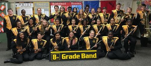 8th grade band group photo