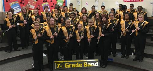 7th grade band group photo