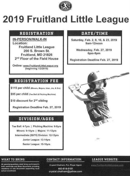 Little League Registration