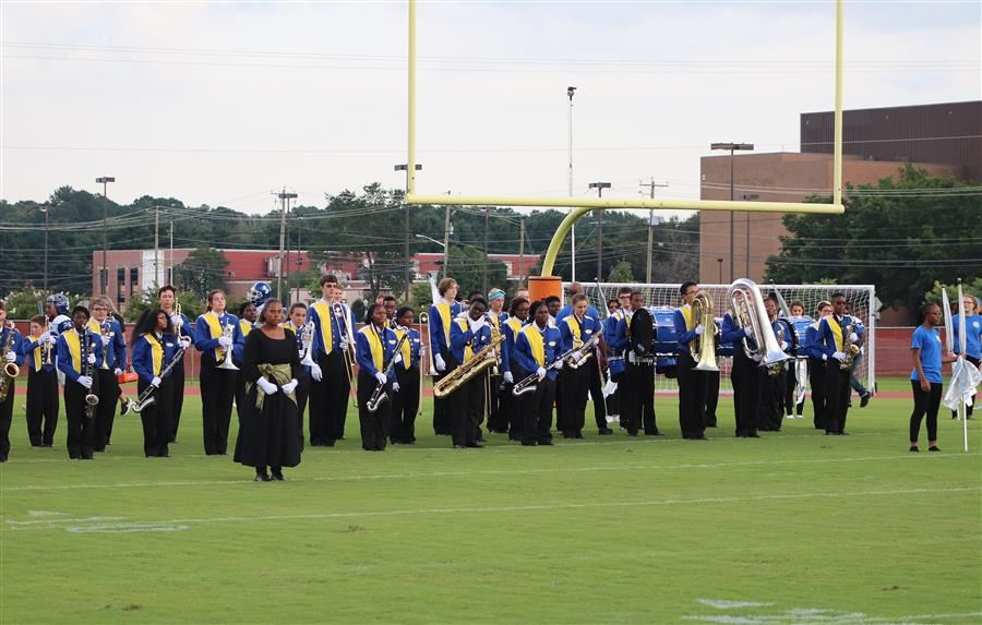 Wi-Hi Band Preps for Halftime Show Sept. 7, 2018