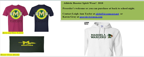Mardela Warriors Booster Apparel