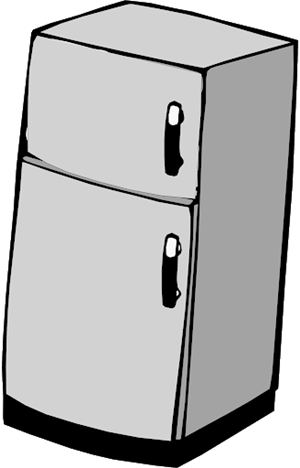 Clipart of fridge