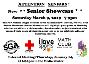 Jan 24 Senior Showcase interest meeting