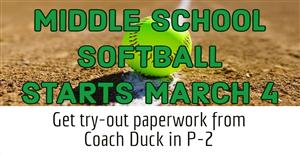 MS Softball March 4 & 6