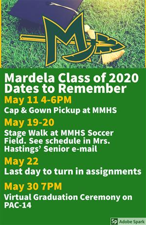 Class of 2020 Dates to Remember