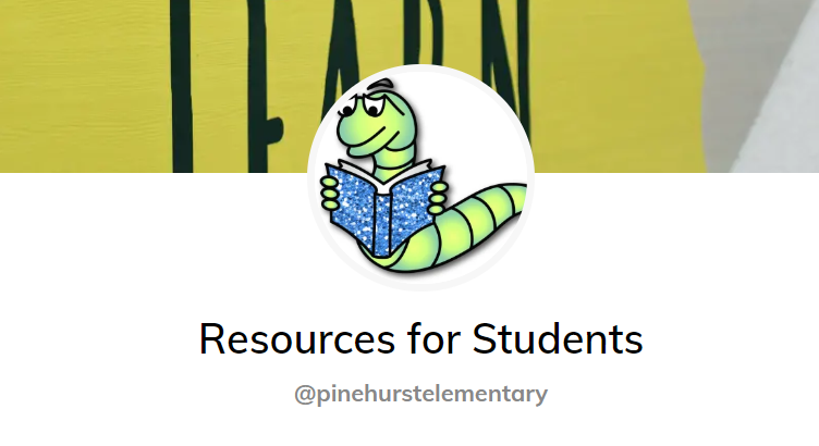 You will find resources for students to use while learning from home.  Please take time to look through the resources and use as needed.