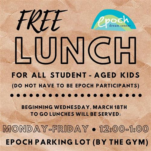 Epoch Center lunches