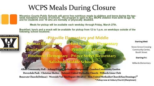 WCPS Meals During Closure
