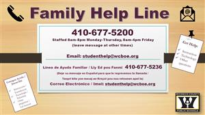 Family Help Line in 3 languages