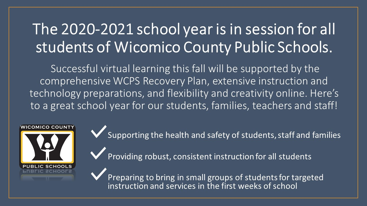 2020-2021 school year starts with virtual learning