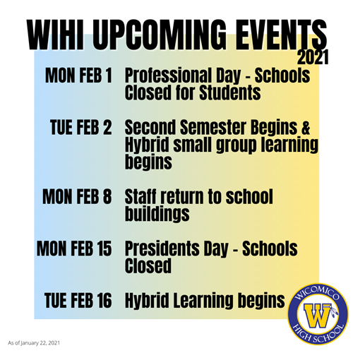WiHi Upcoming Events