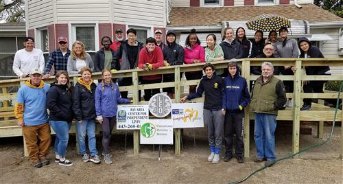 JMB Leo Club Students Build Wheelchair Ramp
