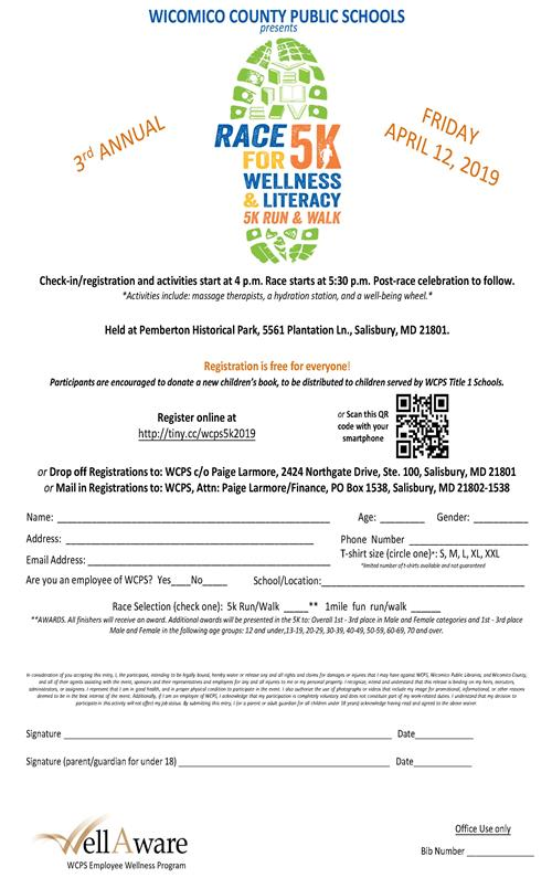 April 12 Race for Wellness & Literacy