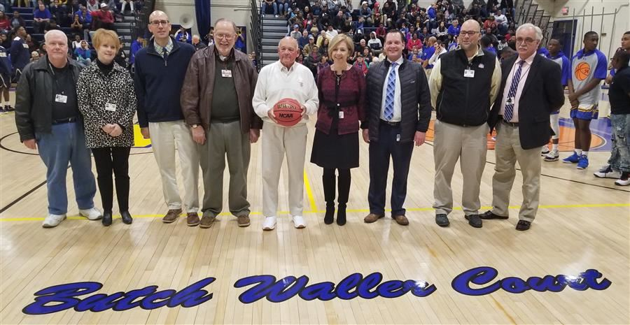 Wi-Hi Gym Floor Renamed for Coach Waller