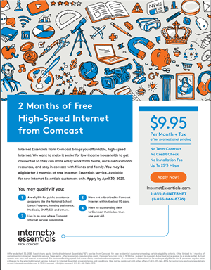 Comcast To Keep Americans Connected During Covid 19 Crisis