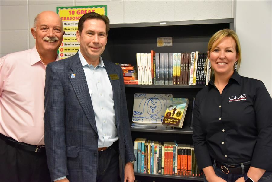 Salisbury Rotary and Sunrise Rotary Provide Bookcases for 22 Wicomico County High School English Classrooms