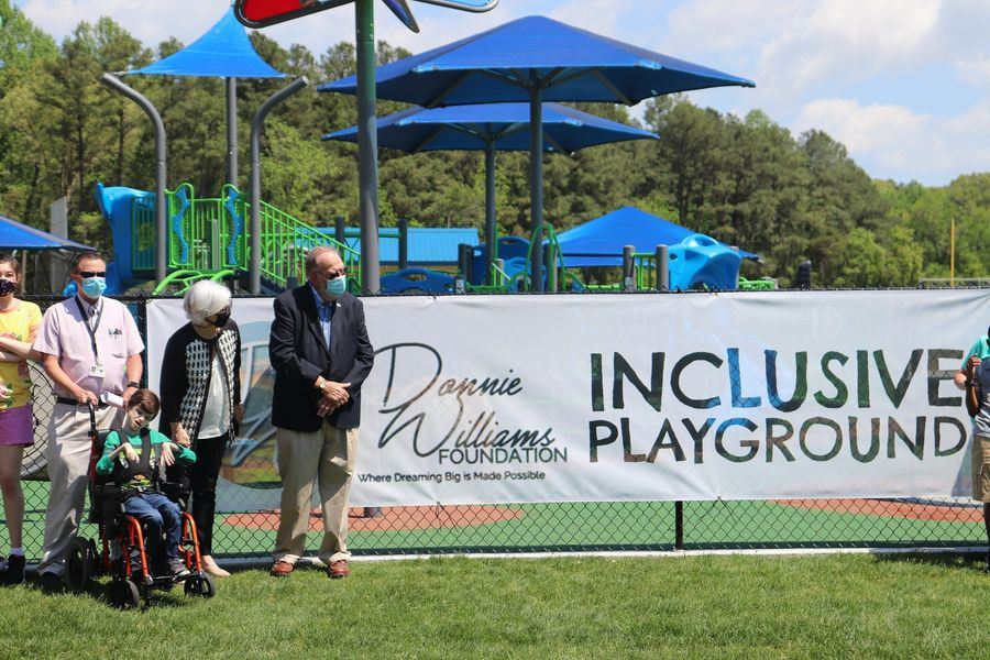 WCPS Students Help Open New Inclusive Playground