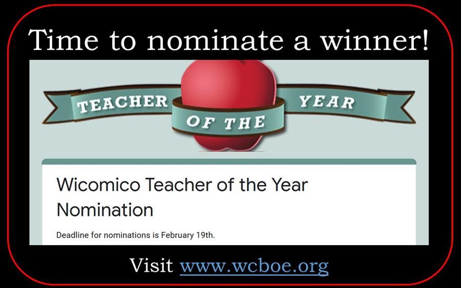 Teacher of the Year nomination time