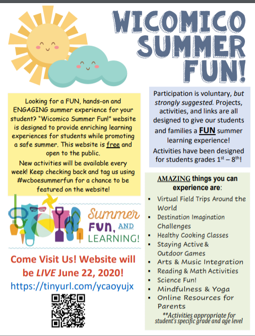 Wicomico Summer Fun! Website Launches