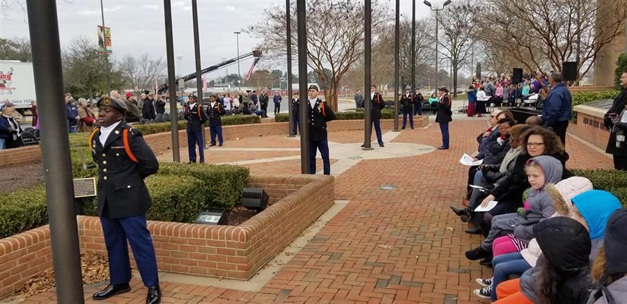 WCPS Students Participate in Wreath Laying Ceremony