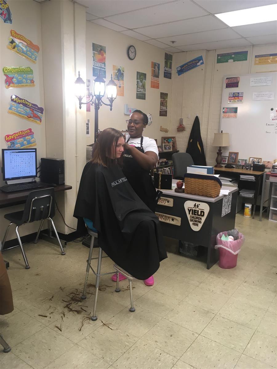 WMS Students Get Free Haircuts from Local Barbers & Stylists