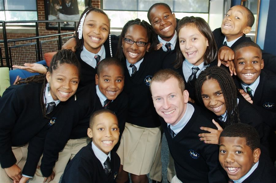 Ron Clark with students